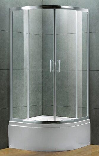 Душевое ограждение GRANADA ALTO S90.20 [90*90*210] профиль хром, стекло прозр, с высоким поддоном