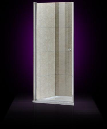 Душевая дверь КВАРЦ-2 1000*2000, арт.А1-10 прозрачное стекло, профиль хром